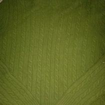 The Limited Green Cable Knit Sweater Large Photo