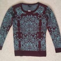 The Limited - Mint Green Wine Red Sweater - Xs - Photo