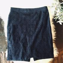 The Limited Navy Blue Lace Pencil Skirt Womens 8 Euc Photo