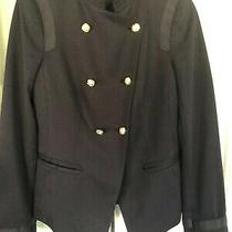The Limited Nwt Navy Gold Button Military Blazer Jacket Size M Photo