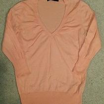 The Limited  Peach Vneck Sweater- Rm - My Closet   Photo