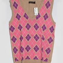The Limited Pullover Sweater Sm Argyle v Neck Photo