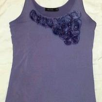 The Limited  Purple Flower Detailed Stretch Tank - Size M - My Closet  Photo