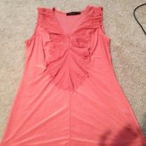 The Limited Rose/blush Ruffle Front Top Sleeveless Blouse  Xs S  Photo