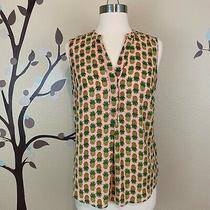 The Limited S Pineapple Sleeveless Top Split Neck Lightweight Blush Photo