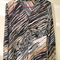 The Limited Scribble Trendy Chic Blouse - Size Small Photo