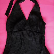 The Limited Shimmery Black Holiday Halter Top Small Mint New Photo