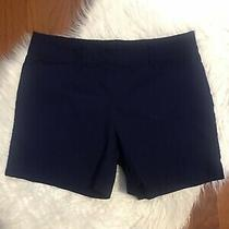 The Limited Size 8 Womens Navy Textured Casual Shorts (I20) Photo