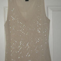 The Limited Size L  Creme Color See Through Tank Top Juniors Photo