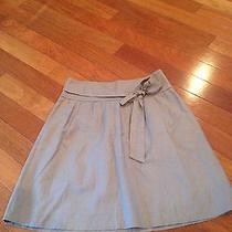 The Limited Skirt Grayish/brown Tie at Waist Womens 6 Stunning Photo