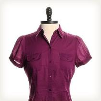The Limited Solid Purple Collared Top Sz Xs Photo
