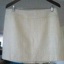 The Limited Sparkly Off White Acrylic Skirt Size 10 Photo