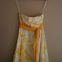 The Limited Strapless Yellow and White Dress Size 2 Photo