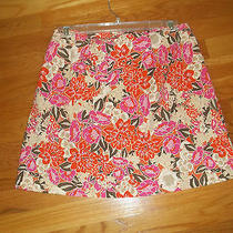 the Limited Stretch Mini Skirt Bright Multi Color Flowers Size 6 Photo