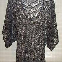 The Limited Sweater Silver Metallic Rayon Metallic Long Length Size M Photo