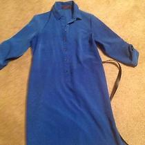 The Limited the Ashton Shirtdress in Royal Blue Size Small Sleeveless Work Dress Photo