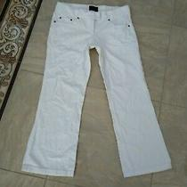 The Limited White Corduroy Crop Pants Size 8 Photo
