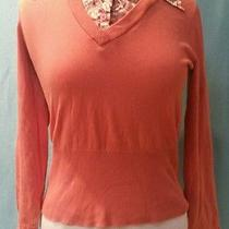 The Limited Women's Coral Colored Long Sleeve Top Blouse Size Medium Free Ship Photo