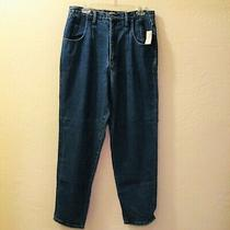 The Limited Women's Straight Leg Jeans  Dark Blue High Rise Size 14 Photo