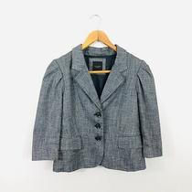 The Limited Womens Career Blazer Suit Jacket S Small Gray 3/4 Sleeve No Size Tag Photo