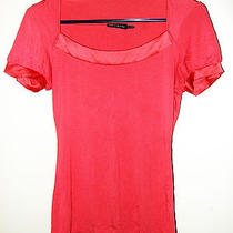 The Limited Womens Shirt Blouse Top Size Xsmall Pink Salmon With Necklace Photo