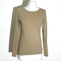 The Limited Womens Top Xs Yellow Sliver Striped L/s Comfortable Perfect Tee Guc Photo