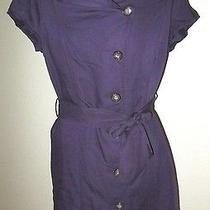 The Limited Work Dress Size 6 Belt/sash Purple Button Down Photo
