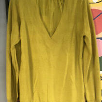 The Limited Yellow  Green Merino Wool Sweater Top Size Xlarge Photo