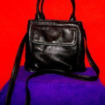 The New American Classic Vtg  Black Leather Fossil Handbag 75082 Since 1954 Photo
