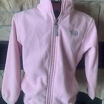 The North Face Blush Pink Full Zip Fleece Jacket Size Xs Girls Photo