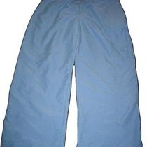 The North Face Capri Crop Pants Womens Baby Blue Cargo Size 6 S Small 28-30 Photo