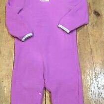 The North Face Fleece One Piece Bodysuit With Hat Romper Baby Girl 12-18 Months Photo