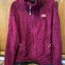 The North Face Fleece Sherpa Womens L Large Fuzzy Zip Up Jacket Black Full Zip Photo