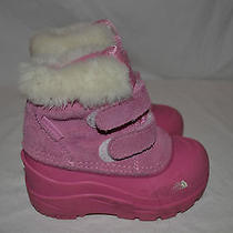 The North Face Girl's Pink Heat Seeker Winter Boots---7 Toddler Photo