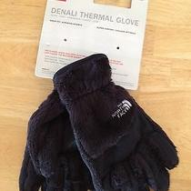 The North Face Girls' Denali Thermal Fleece Gloves Large L Black Awjh Nwt 29 Photo