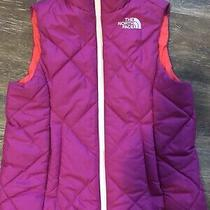 The North Face Girls Reversible Puffer Vest--Size S Size 6 Authentic Photo