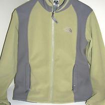 The North Face Green & Gray Fleece Jacket Ladies Womens Medium M - Free Shipping Photo