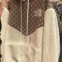 The North Face Gucci Gg Canvas Shearling Jacket Beige Size Xs Photo