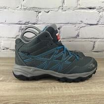 The North Face Hedgehog Mid Gray Blue Trail Hiking Boots - Womens 7 / Youth 5.5 Photo