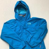 The North Face Hyvent Girls Jacket Hooded Impermeable Rain Windbreaker Size Xs Photo