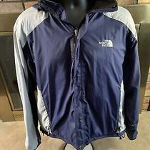 The North Face Hyvent Mens Lightweight Blue Fleece Winter Jacket Size Large Photo
