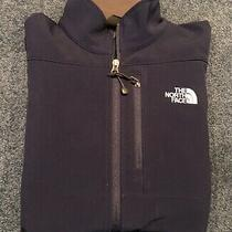 The North Face Men's M Apex Soft Shell Jacket Navy Blue Full Zip Photo