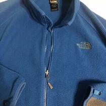 The North Face Mens Blue Gray Fleece Jacket Full Zip Size Xxl Photo