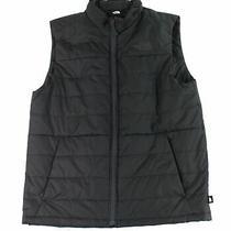 The North Face Mens Jacket True Black Size Large L Full Zip Pocket Vest 89 176 Photo