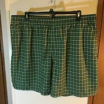 The North Face Mens Size 2xl Xxl Green Black Polyester Swim Trunks Shorts Euc Photo