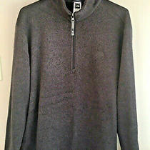 The North Face Mens Size Xl Dark Gray Long Sleeve 1/4 Zip Pullover Guc  Photo