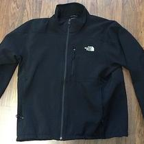 The North Face Mens Tnf Softshell Jacket Solid Black Xl Photo