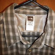 The North Face Outdoor Casual Button Shirt Mens Medium Plaid Green Photo