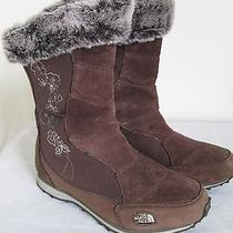 The North Face Primaloft Women's Leather Water Proof Insulated Boots Brown 6 New Photo