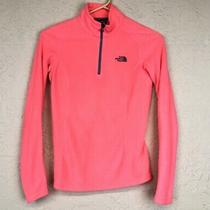 The North Face Pullover Sweatshirt Womens Size Xs 1/4 Zip Fleece Hot Pink Jacket Photo